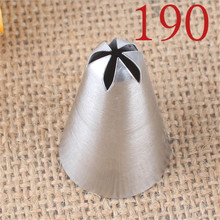 1 pc Stainless Steel Icing Piping Nozzles 190# Pastry Tips For Cake Cream Cupcake Decorating Tools DIY Fondant Baking Tool stainless steel cream puffing icing piping nozzles tips fondant cake decorating sugar craft dessert pastry tool cake mold