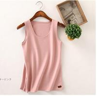 Early autumn new small vest halter women thicken and stretch base coat cotton body of pure color wear