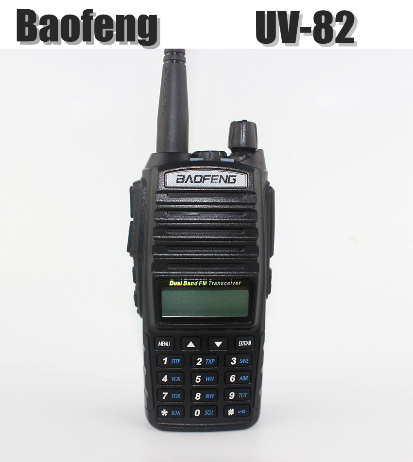 Portable Baofeng UV 82 Walkie Talkie Black Dual Band VHF UHF Ham Radio Transceiver Baofeng UV