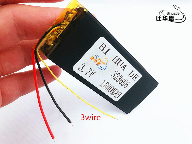 li-po RNEW 323696 XWD 323696P 323696 <font><b>3.7V</b></font> <font><b>1800MAH</b></font> <font><b>battery</b></font> li-Lion for china clone MTK phone goophone I6 6S IP6 image