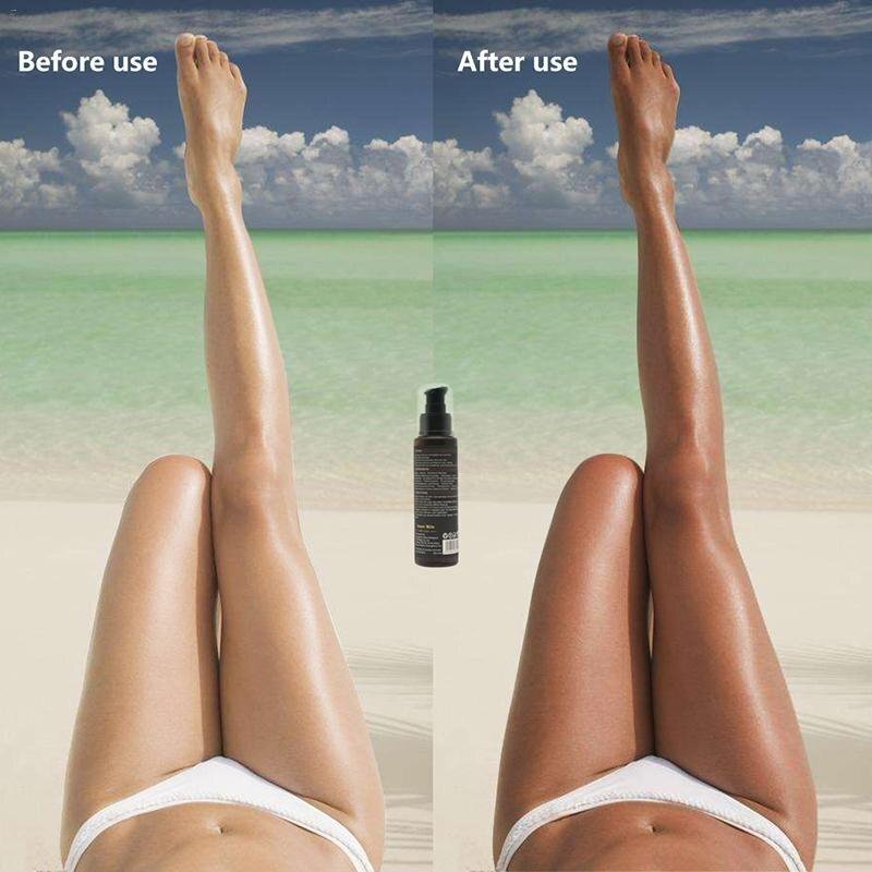 Long Lasting Sunless Tanning Self Tan Organic Self Tanner Natural Tan Mousse Long Lasting Bronze Fake Tan Body Lotion 100ML