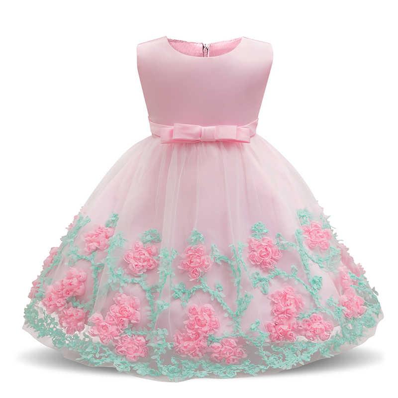 181eceefb Bebé bebé princesa recién nacido 1 2 cumpleaños Vestido fiesta Vestido de ropa  Vestido para niños