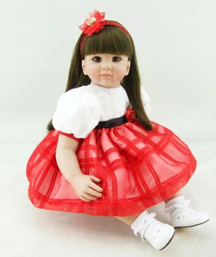 55cm Silicone Reborn Baby Doll Toys Vinyl Luxurious Princess Toddler Dolls Kids Birthday Gift Play House Toy Girls Brinquedos vinyl silicone toddler doll toy play house dolls birthday gift for kids child 55cm cute high end princess reborn girl baby dolls
