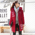 2017 New Winter Jacket Women Hooded Thicken Coat Female fashion Warm Outwear Cotton-Padded Long Wadded Jacket Down Coat Parkas