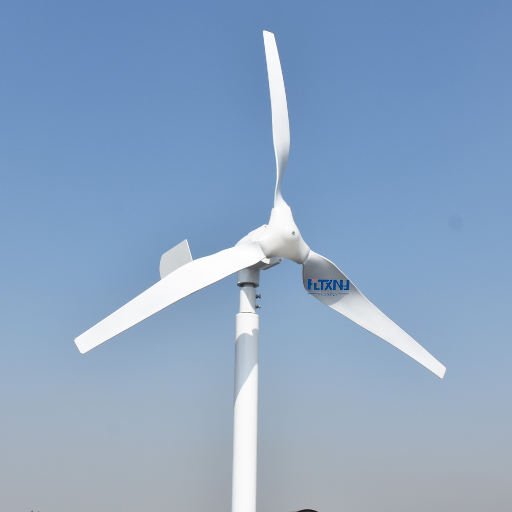 US $445 5 10% OFF|0 6kW horizontal windmill 12v/24v with MPPT 12V 24V  automatic recognition wind solar hybrid controller and 1000w Inverter-in