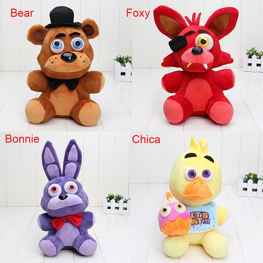 """10ชิ้น/เซ็ตเฟรดดี้4 FNAF Foxyเฟร็ดดี้Fazbear chicaบอนของเล่นตุ๊กตาของเล่นตุ๊กตา10 """"ห้าคืนที่เฟร็ดดี้ของเล่น-ใน ภาพยนตร์และทีวี จาก ของเล่นและงานอดิเรก บน   1"""