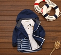 New spring good quality boy cardigan Children's striped pattern coat  clothes kids zipper jacket cotton baby outerwear