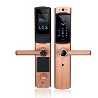 IL3 пароль отпечатка пальца электронный замок Wi Fi Съемная Дверь просмотра удаленного видео дверные звонки приложение удаленно разблокирова