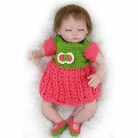 Новые Силиконовые Возрождается Ребенка Куклы Возрождается Кукла 17 Дюймов Мягкая Винилсиликоновых Реалистичные Сопровождать Куклы Игрушк