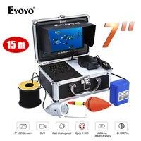 Eyoyo 7 Color Monitor 15m Professional Fish Finder Underwater Sea Ocean Fishing Video Camera 1000TVL HD