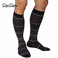 RioRiva 1 Pair 15 20mmHg Graduate Compression Sox Comfortable Women Men Knee High Long Blood Circulation