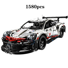 New 20097 Technic series The White Super Racing Car Model Building Blocks Compatible 42096 classic car-styling Toys for children недорого