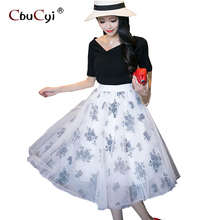 High waisted skirt gonna tulle Long Fashion girl clothing manufacturers wholesale(China)