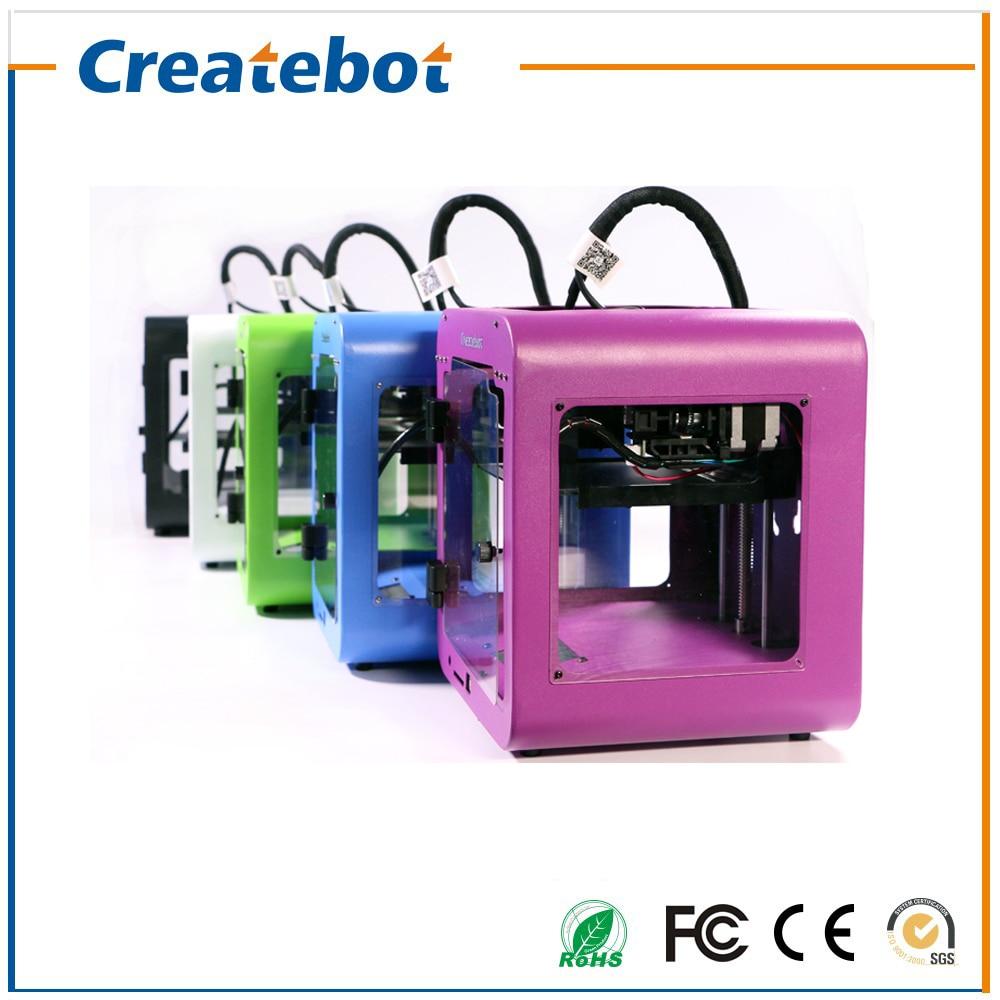 Palmtop fdm impresora 3d createbot super mini impresora 3d caja de metal de alta