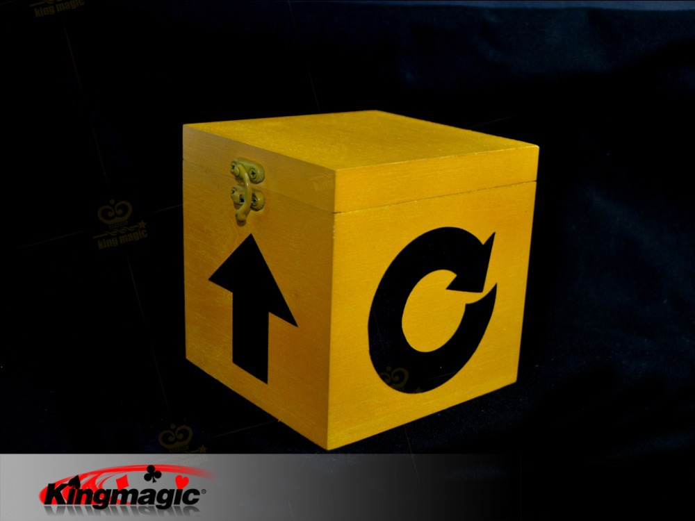 Mysterious Box Magic Trick KingMagic Close Up Amazing Magic Easy To Do free shipping mysterious box amazing case magic tricks magic props