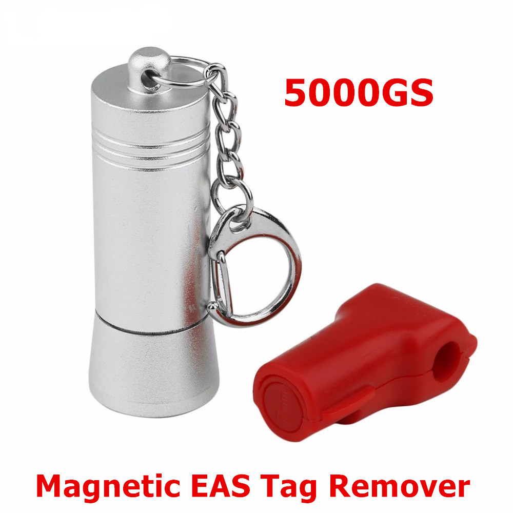 5000GS Mini Magnetic EAS Tag Remover Portable Manetic Bullet Security Tag Detacher Key Lockpick Anti-theft EAS system protection 20000gs golf detacher security tag remover opener unlock eas tag detacher anti theft unlocking device strong magnetic force