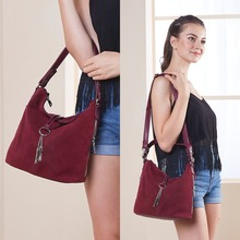 2018 Fashion Women Split Leather Shoulder Bag Female Suede Casual Crossbody handbag Casual Lady Messenger Hobo Top-handle Bags anna s bag split leather women mini handbag top handle bags messenger bags metal chain waterproof crossbody bag a 010