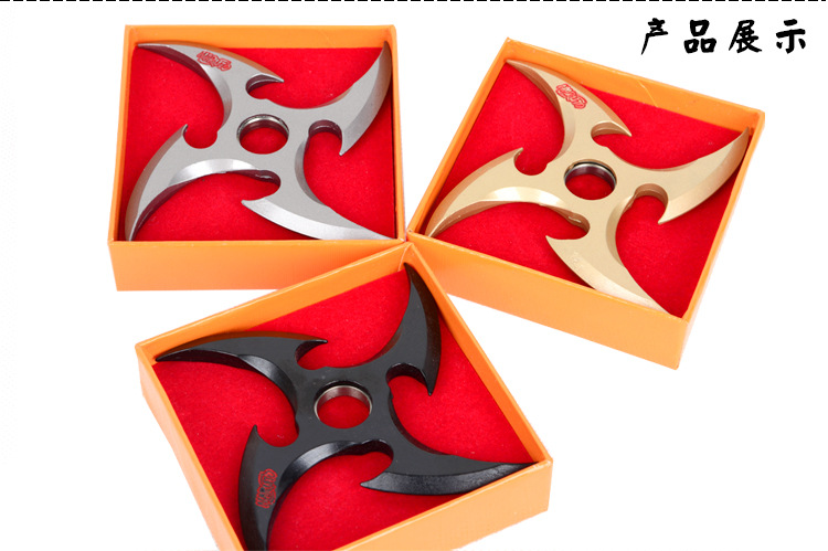 Naruto Fuhma Shuriken Weapon Shrinkable Naruto Metal Kunai Japanese Anime Cosplay Weapon Props Kunai Sword Hand Collapsible new draven shuriken naruto rotatable darts weapon model kids toy christmas gift cosplay props for collection fidget toys gift