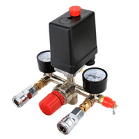 Air Pressure Manifold Switch Control Regulator Compressor Universal Professional 90 120PSI High Quality Newest