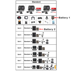 Image 5 - EKEN H5S プラス超 HD アクションカメラタッチスクリーンタマゴノキ A12 EIS 4 18k/30fps 720 p/200fps 30 メートル防水囲碁ヘルメットプロスポーツカム