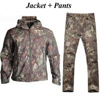 TAD Tactical Softshell Hunting Jacket + Pants Windproof Windbreaker Men Outdoor Waterproof Hiking Camping Sport Suits