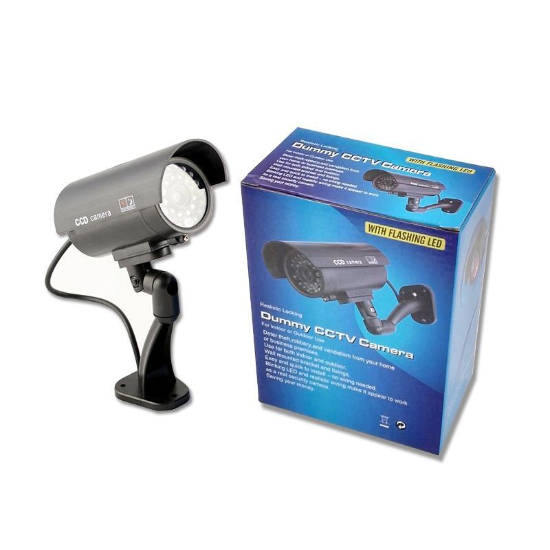 bilder für GS 2 stücke Wasserdichte Outdoor Indoor Gefälschte Blinde Cctv-kamera Nacht CAM LED-Licht Videoüberwachung