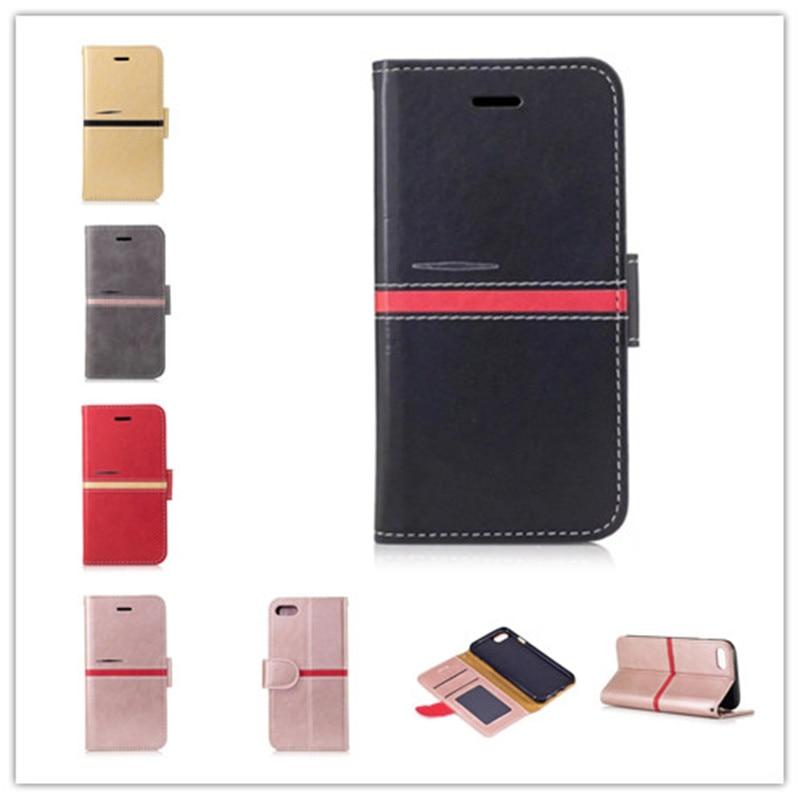 Marque Housse En Cuir Pour Coque iPhone 7 Portefeuille avec Support et porte-carte d'identité Photo Cadre 5 Couleurs étuis pour iPhone 8
