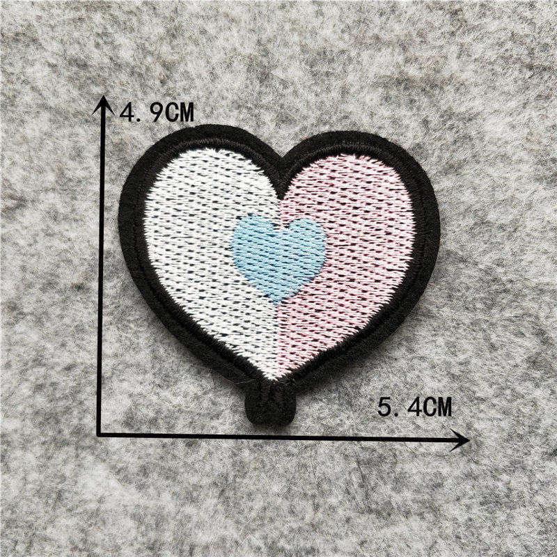 Мультяшная декоративная заплатка, сердце, дерево, Бабочка, узор, вышитая аппликация, нашивки для DIY, железные наклейки на одежду - Цвет: C6248