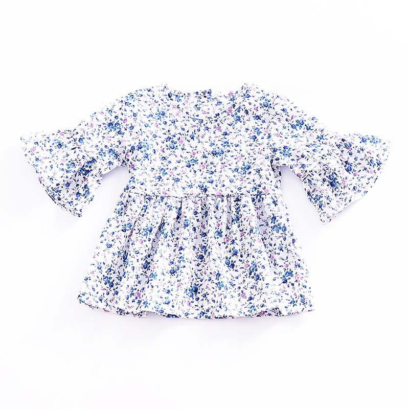 Kids Infant Toddler Baby Girls Floral Tunic Blouse Top Dress Princess Clothes