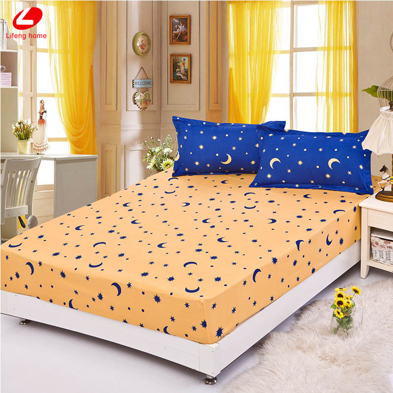 Home textile bed sheet sheet flower mattress cover printing bed sheet elastic rubber bedclothes 180*200cm summer bedspread band 10