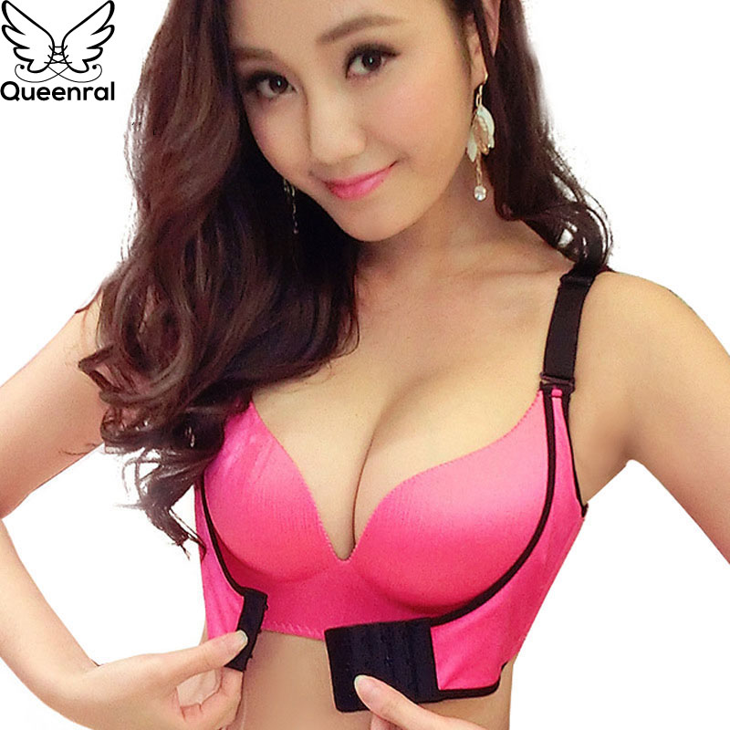 00890bfcfb94f Queenral Super Push Up Bras Bralette For Women Underwear Lingerie Sexy BH  Add Two Cups Brassiere Seamless Bra For Female ABC Cup