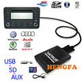 Yatour Trocador de Música Digital de CD Carro USB adaptador MP3 AUX Para VW Audi Skoda Assento ISO 8-Pin yt-m06