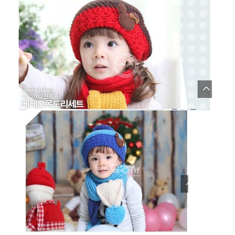 Strick Mädchen Hüte schal sets für Jungen Strumpf Hut neugeborenen ...