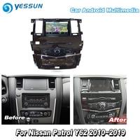 YESSUN For Nissan Patrol Y62 2010~2019 Car Android Carplay GPS Navi maps Navigation DVD CD Player Radio Stereo Multimedia