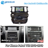 YESSUN For Nissan Patrol Y62 2010~2019 Car Android Carplay GPS Navi maps Navigation DVD CD Player Radio Stereo Multimedia