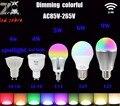 mi.light 2.4g 4w 5w 6w 9w rgbw rgbww led bulb,MR16 GU10 E14 E27 led lamp holder AC/DC12V AC85-265V