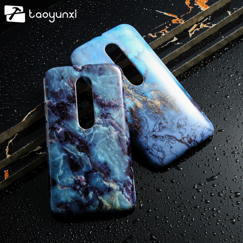 Piedra de mármol Cubierta Del Teléfono de Plástico Para Motoroal Moto G3 G 3nd X