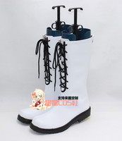 Tsukiuta Six Gravity Kisaragi Koi White Cosplay Shoes Boots X002