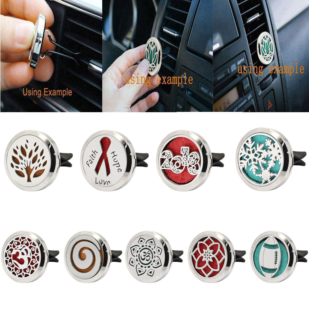 Interior Accessories Air Freshener Objective Stainless Car Air Auto Vent Freshener Essential Oil Gift Decor Clip Decoration High Qualty Fragrance Material_1.24
