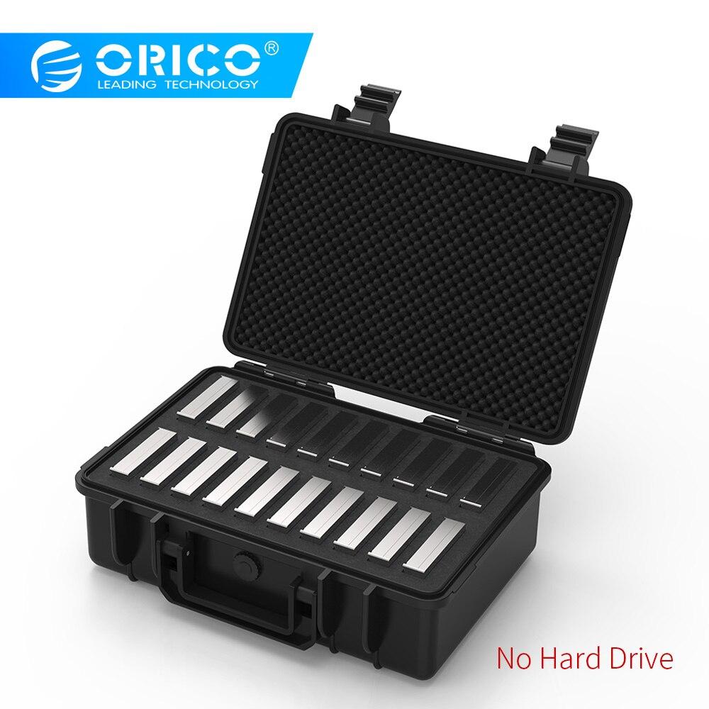 ORICO 3,5 дюйма 20-bay 3,5 дюйма HDD жесткий диск Внешняя защита чехол для хранения коробка портативный мульти отсек воды \ пыли \ ударопрочный