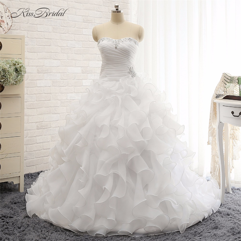 Wedding Gown With Ruffles: Alibaba Loja De Varejo Newest Style Organza Ruffled