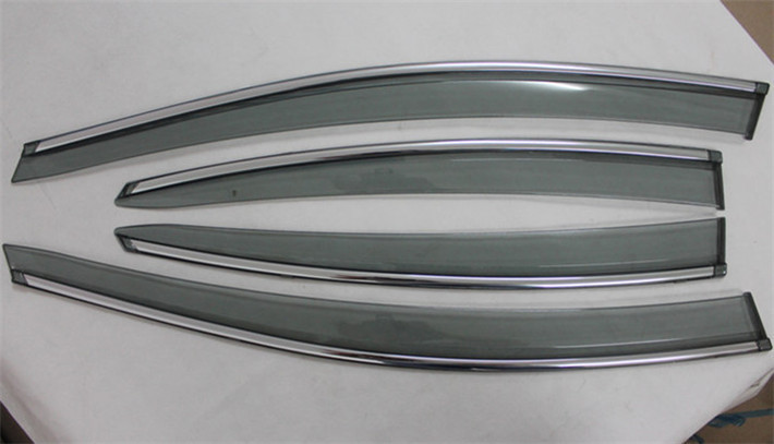 ФОТО Side Window Sun Shield Visors Vent Rain Wind Deflector Guard for Hyundai Elantra 2012-2014 Car styling