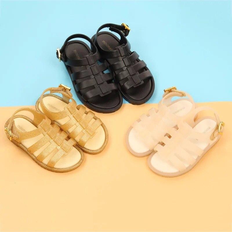 Mini Melissa Original Brand Girls Jelly Roman Sandals 2019 Girl Sandals Breathable Melissa Baby Beach Sandals 12.8-17.8cm