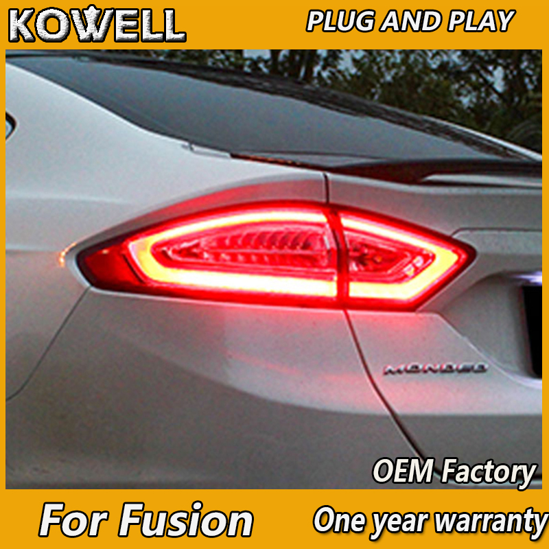 KOWELL Car Styling 4 pieces For Ford Mondeo Fusion Taillights 2013 2014 2015 2016 LED Tail Lamp Rear Lamp DRL+Brake+Park+Signal