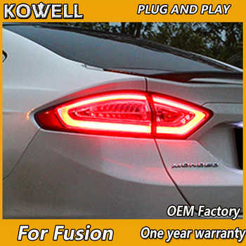 KOWELL Car Styling 4 pieces For Ford Mondeo Fusion Taillights 2013 2014 2015 2016 LED Tail Lamp Rear Lamp DRL+Brake+Park+Signal - DISCOUNT ITEM  20% OFF All Category
