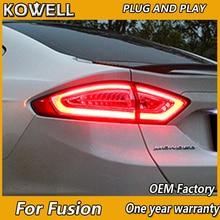 KOWELL araba Styling için 4 adet Ford Mondeo Fusion arka lambaları 2013 2014 2015 2016 LED kuyruk lambası arka lamba DRL + fren + parkı + sinyal