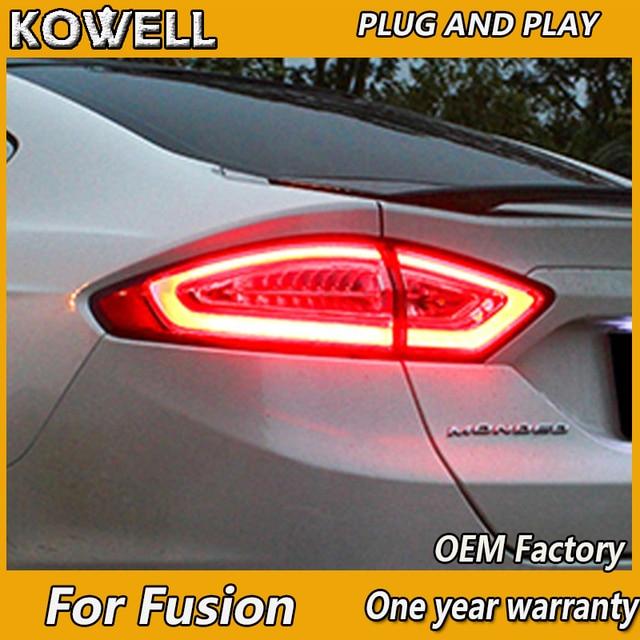 KOWELL luces traseras para Ford Mondeo Fusion, luces traseras DRL, freno, estacionamiento y señal, 2013, 2014, 2015, 2016, luz trasera LED, 4 piezas