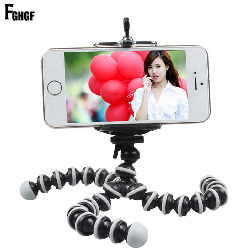 FGHGF octopus Mini Tripod Bracket Portable Flexible Mobile Phone Holder Camera Stent Smartphone Tripods Foldable Desktop stand