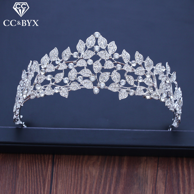 CC tiaras and crowns hairbands high quality princess engagement wedding hair accessories for bridal jewelry luxury leaf XY215CC tiaras and crowns hairbands high quality princess engagement wedding hair accessories for bridal jewelry luxury leaf XY215