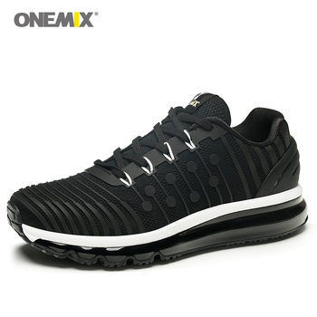 ONEMIX Men Running Shoes Breathable Gym Fitness Outdoor Sneakers Comfortable Athletic Training Footwear chaussures hommes White